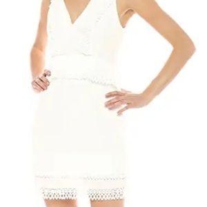 KEEPSAKE The Label Mini Dress Lace Trim V Neck NWT